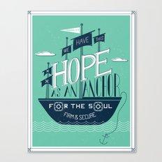 1/52: Hope As An Anchor  Canvas Print