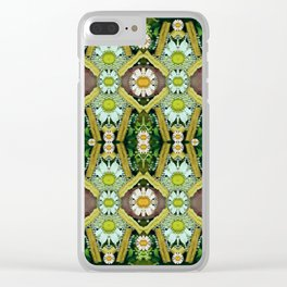 Bread sticks and fantasy flowers in a rainbow Clear iPhone Case