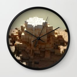 Temple mayan structure macro material structure building city landscape background Wall Clock
