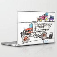 pocket fuel Laptop & iPad Skins featuring Taking on Fuel by Ryan van Gogh