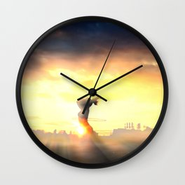 Sunrise on Top of the World Wall Clock