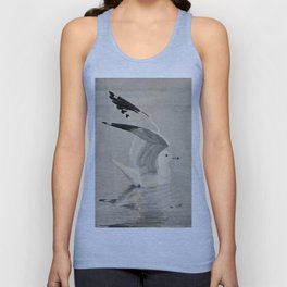 Vintage Illustration of a Seagull (1902) Unisex Tank Top
