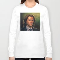 sam winchester Long Sleeve T-shirts featuring Sam Winchester from Supernatural by Annike
