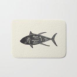 Tuna Butcher Diagram-Fish Bath Mat