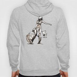 The cowgirl and the pigs Hoody