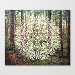 Mandala Vintage Forest Path Canvas Print
