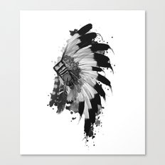 black and white headdress Canvas Print