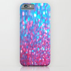 Sky Blue Pink Sparkle Glitter Gradient iPhone 6s Slim Case