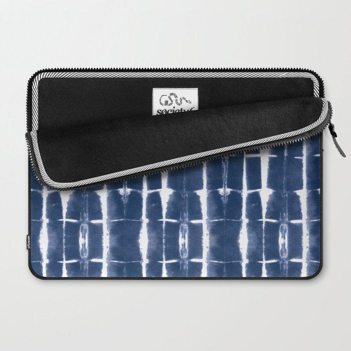 Shibori Stripes 3 Indigo Blue Laptop Sleeve