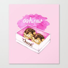 Food Pun - Ooh New Chouxs Canvas Print