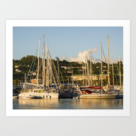 Sailboats of St. George's Art Print