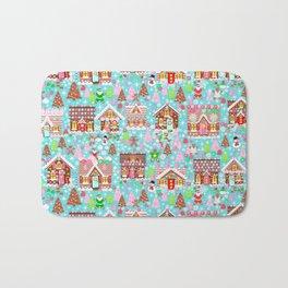 gingerbread Christmas Village Bath Mat