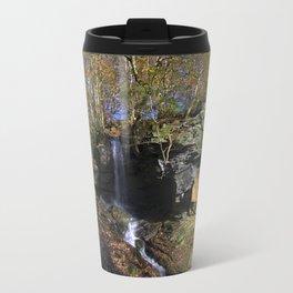 Waterfall at Lumsdale Travel Mug