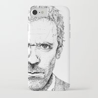 house md iPhone & iPod Cases featuring Hugh Laurie, House MD by Milicule