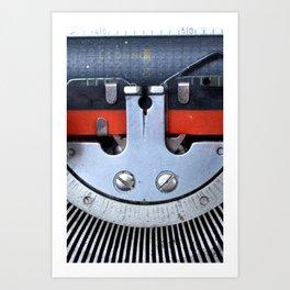 Vintage typewriter 2 Art Print