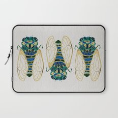 Green & Gold Cicada Laptop Sleeve