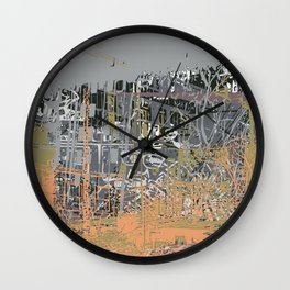 Lifes Clouds Wall Clock