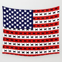 flag Wall Tapestries featuring Cat Flag by Cat Attack