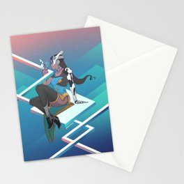Symmetra in Monument Valley Stationery Cards