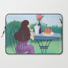 Beautiful Garden Girl Laptop Sleeve