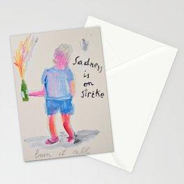 Sadness is on strike Stationery Cards