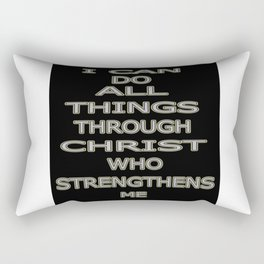 Philippians 4:13 Rectangular Pillow