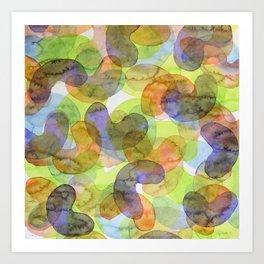 Purple Orange Green Croissants Art Print