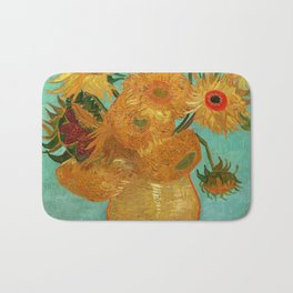 Vincent Van Gogh Twelve Sunflowers In A Vase Bath Mat