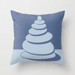 Digital Zen art-balance of a stack of stones Throw Pillow