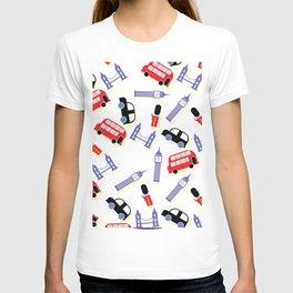 Retro London icon pattern T-shirt