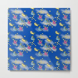 Unicorn Party Metal Print