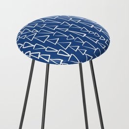 Blue Jazz Triangles Counter Stool