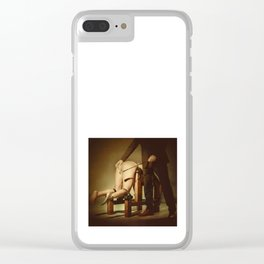 Nude Woman On the Whippingbench Clear iPhone Case