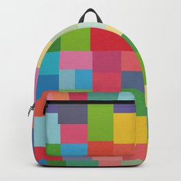 Mid-Century Modern Colorful Geometric Backpack
