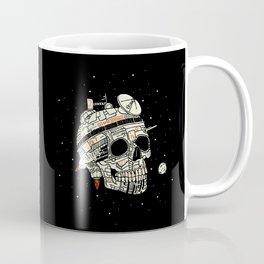 Planet Space Skull  Coffee Mug