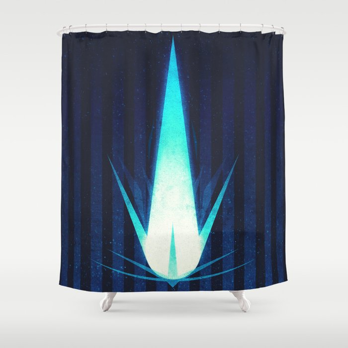 Sol System - Halley's Comet Shower Curtain