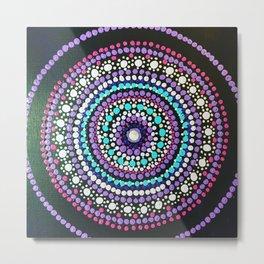 Dotted Mandala Metal Print