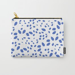 blue bright dots design, brush stroke illustration, simple, abstract and modern yet organic shape Carry-All Pouch