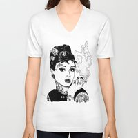 tiffany V-neck T-shirts featuring Tiffany by AdamWillis