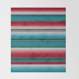 Mexican serape #5 Throw Blanket