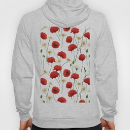 Poppies and daisies Hoody