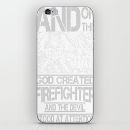 Firefighter And The Devil iPhone Skin