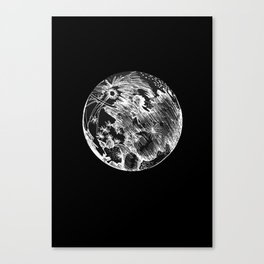 moon large Canvas Print
