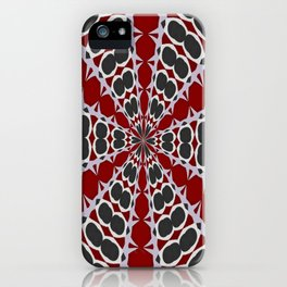 Red Black White Pattern iPhone Case