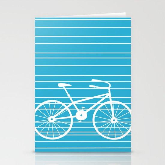 Blue Bike by Friztin Stationery Cards
