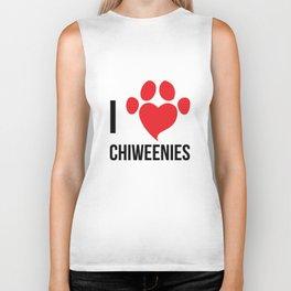 I Love Chiweenie Logo T-Shirt Biker Tank