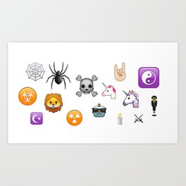 New Emojis Art Print
