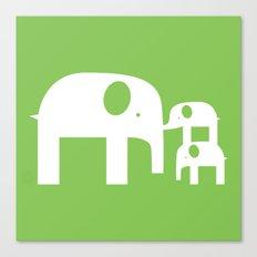 Green Elephants Canvas Print