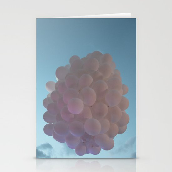 up up and away - balloons Stationery Cards