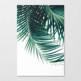 Palm Leaves Green Vibes #4 #tropical #decor #art #society6 Canvas Print